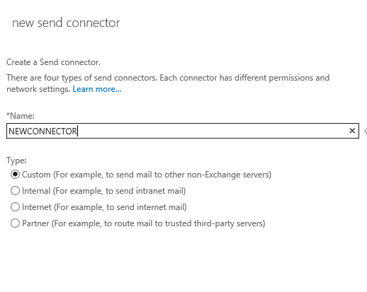 NewSendConnector